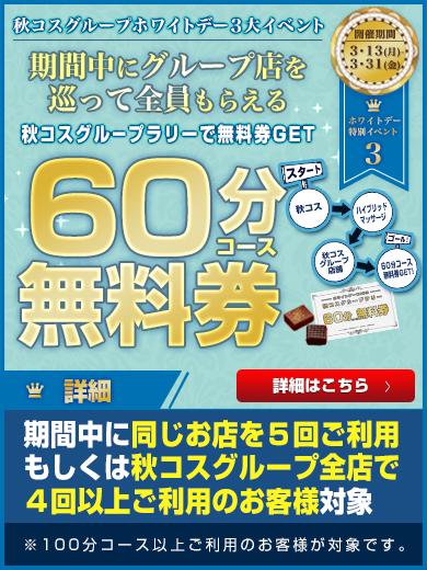 390-520ホワイトデーイベント第3弾ー秋コスグループラリー(100分コース以上ご利用ver)